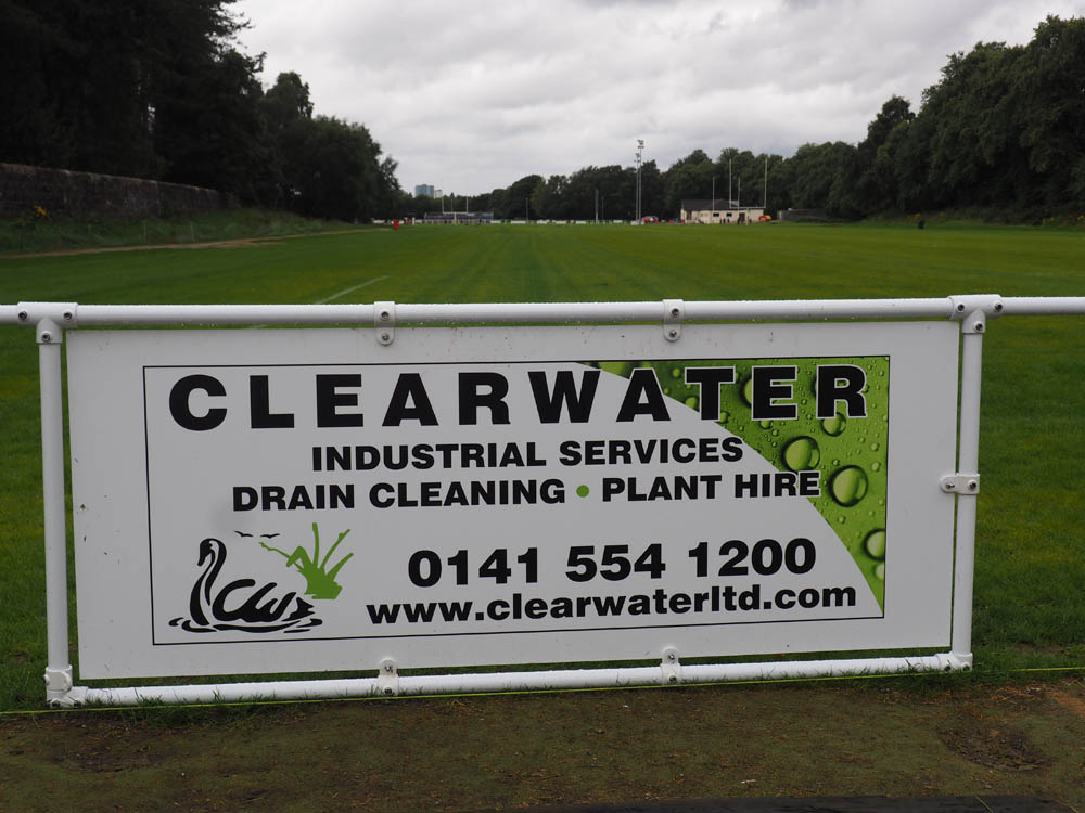 Clearwater Ltd. Pitch side board at Norwood Playing Fields