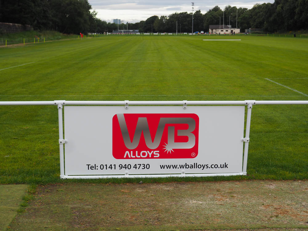 WB Alloys Pitchside board at Norwood Playing Fields